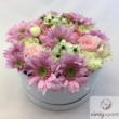 Rózsaszín árnyaltú virágdoboz