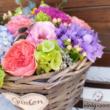 Nyári virágok kosárban