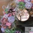 Rózsaszín dekorációs  koszorú