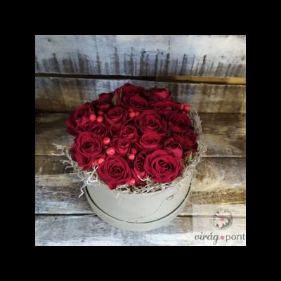 Kör alakú rózsadoboz