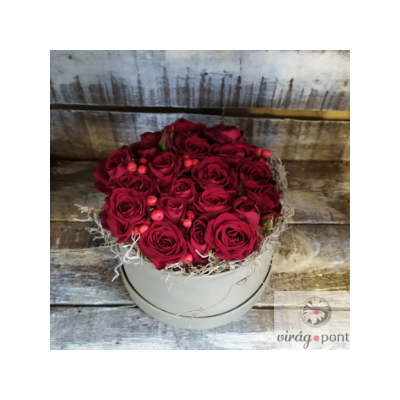 Kör alakú rózsadoboz - Gondoltam rád! :)