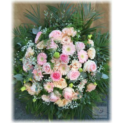 Hagyományos koszorú- Rózsaszín