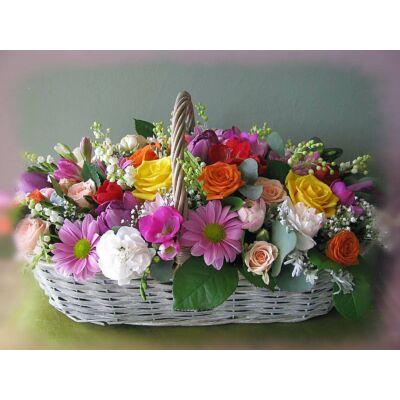 Vegyes virágkosár