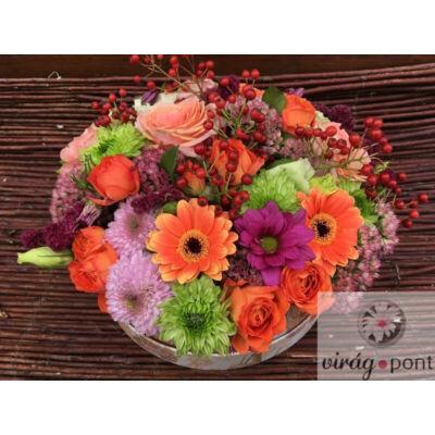 Virágdoboz őszi színekben